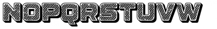 Apnea Drop Shadow Open Inline Fill Reverse Halftone Font UPPERCASE