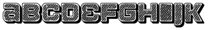 Apnea Drop Shadow Open Inline Fill Reverse Halftone Font LOWERCASE