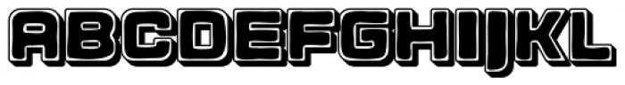 Apnea Drop Shadow Open Inline Fill Font UPPERCASE