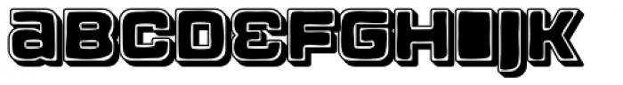 Apnea Drop Shadow Open Inline Fill Font LOWERCASE
