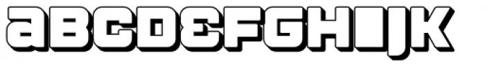 Apnea Drop Shadow Open Font LOWERCASE