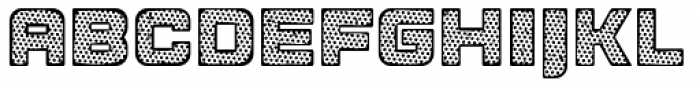 Apnea Inline Halftone Font UPPERCASE