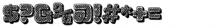 Apnea Outline 3D Inline Fill Reverse Halftone Shading Font OTHER CHARS