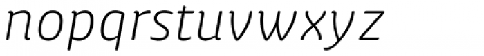 Apparata Light Italic Font LOWERCASE