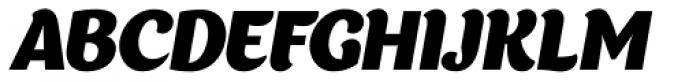Appetite Italic Font UPPERCASE
