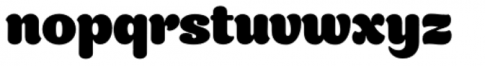 Appetite Pro Rounded Heavy Font LOWERCASE