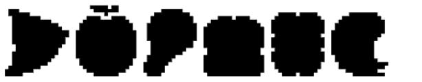 Applbitz Pix Base Font UPPERCASE