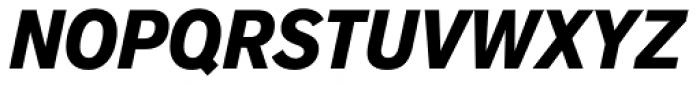 Applied Sans Condensed Black Italic Font UPPERCASE