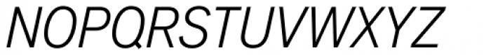 Applied Sans Condensed Light Italic Font UPPERCASE