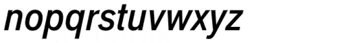 Applied Sans Condensed Medium Italic Font LOWERCASE