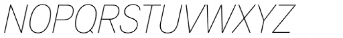 Applied Sans Condensed Thin Italic Font UPPERCASE