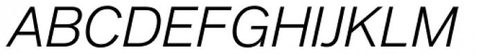 Applied Sans Light Italic Font UPPERCASE