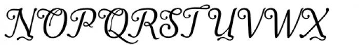Apresia Script Regular Font UPPERCASE