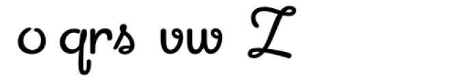 Apricot Alternates Font LOWERCASE