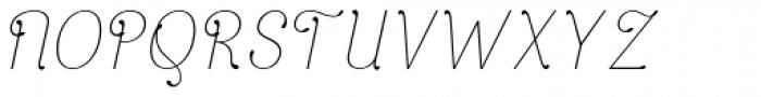 April Rain Italic Font UPPERCASE