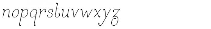 April Rain Italic Font LOWERCASE