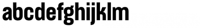 Apron Condensed Bold Font LOWERCASE