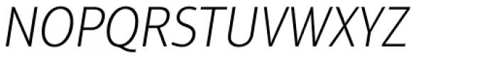 Aptifer Sans Pro Thin Italic Font UPPERCASE