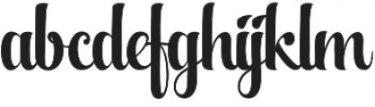 Aqualita otf (400) Font LOWERCASE