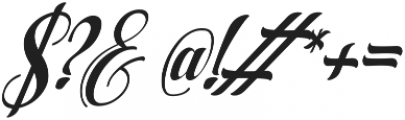 AqualitaItalic ttf (400) Font OTHER CHARS