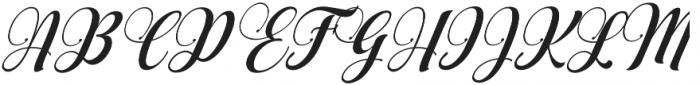 AqualitaItalic ttf (400) Font UPPERCASE