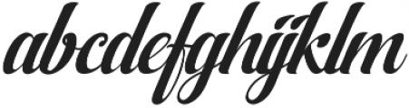 AqualitaItalic ttf (400) Font LOWERCASE