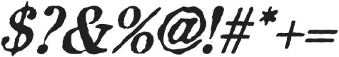 Aquatic Rough italic otf (400) Font OTHER CHARS