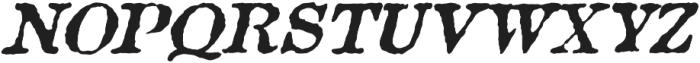 Aquatic Rough italic otf (400) Font UPPERCASE