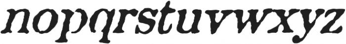 Aquatic Rough italic otf (400) Font LOWERCASE