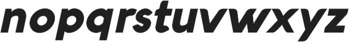 Aquawax Black Italic ttf (900) Font LOWERCASE