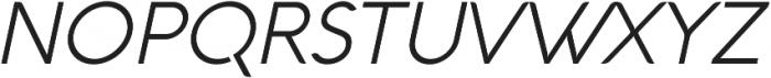Aquawax Light Italic ttf (300) Font UPPERCASE
