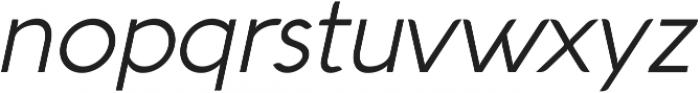 Aquawax Light Italic ttf (300) Font LOWERCASE