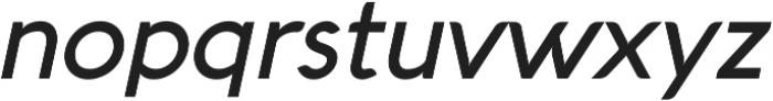 Aquawax Medium Italic ttf (500) Font LOWERCASE