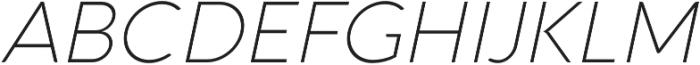 Aquawax Pro ExtraLight Italic otf (200) Font UPPERCASE