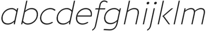 Aquawax Pro ExtraLight Italic otf (200) Font LOWERCASE
