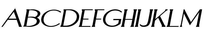 Aquaduct Italic Font UPPERCASE