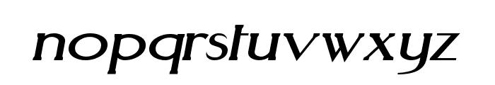 Aquaduct Italic Font LOWERCASE