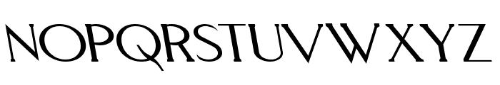 Aquaduct Reverse Italic Font UPPERCASE