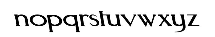 Aquaduct Reverse Italic Font LOWERCASE