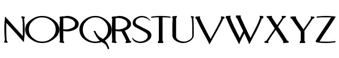 Aquaduct Warp Font UPPERCASE