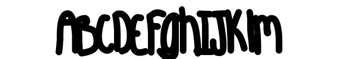 Aquarious Font LOWERCASE