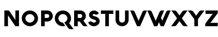 Aquawax Black Font UPPERCASE