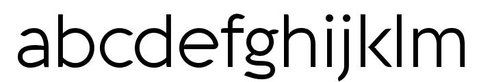 Aquawax Light Font LOWERCASE