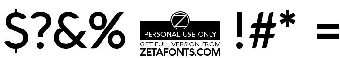 Aquawax Medium Font OTHER CHARS