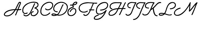 Aqua Casual Font UPPERCASE