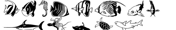 Aqua Life Pi Font LOWERCASE