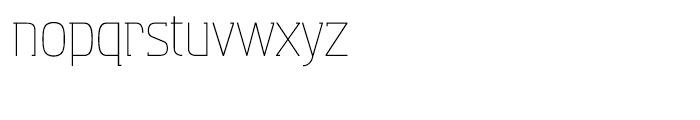 Aquarius Light Font LOWERCASE