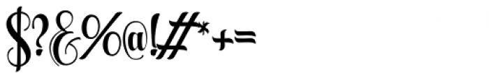 Aqualita Regular Font OTHER CHARS