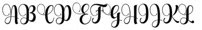 Aqualita Regular Font UPPERCASE
