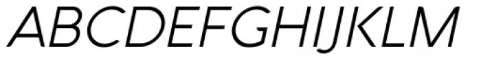 Aquawax Light Italic Font UPPERCASE